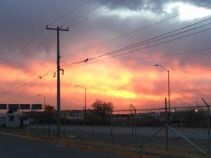 Le même coucher de soleil
