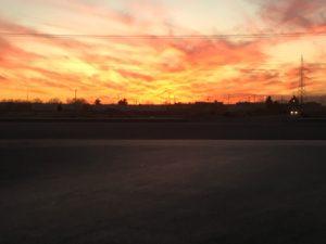 Coucher de soleil à Juárez